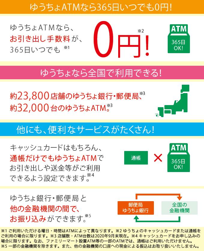 ゆうちょ 銀行 エー ティーエム 手数料